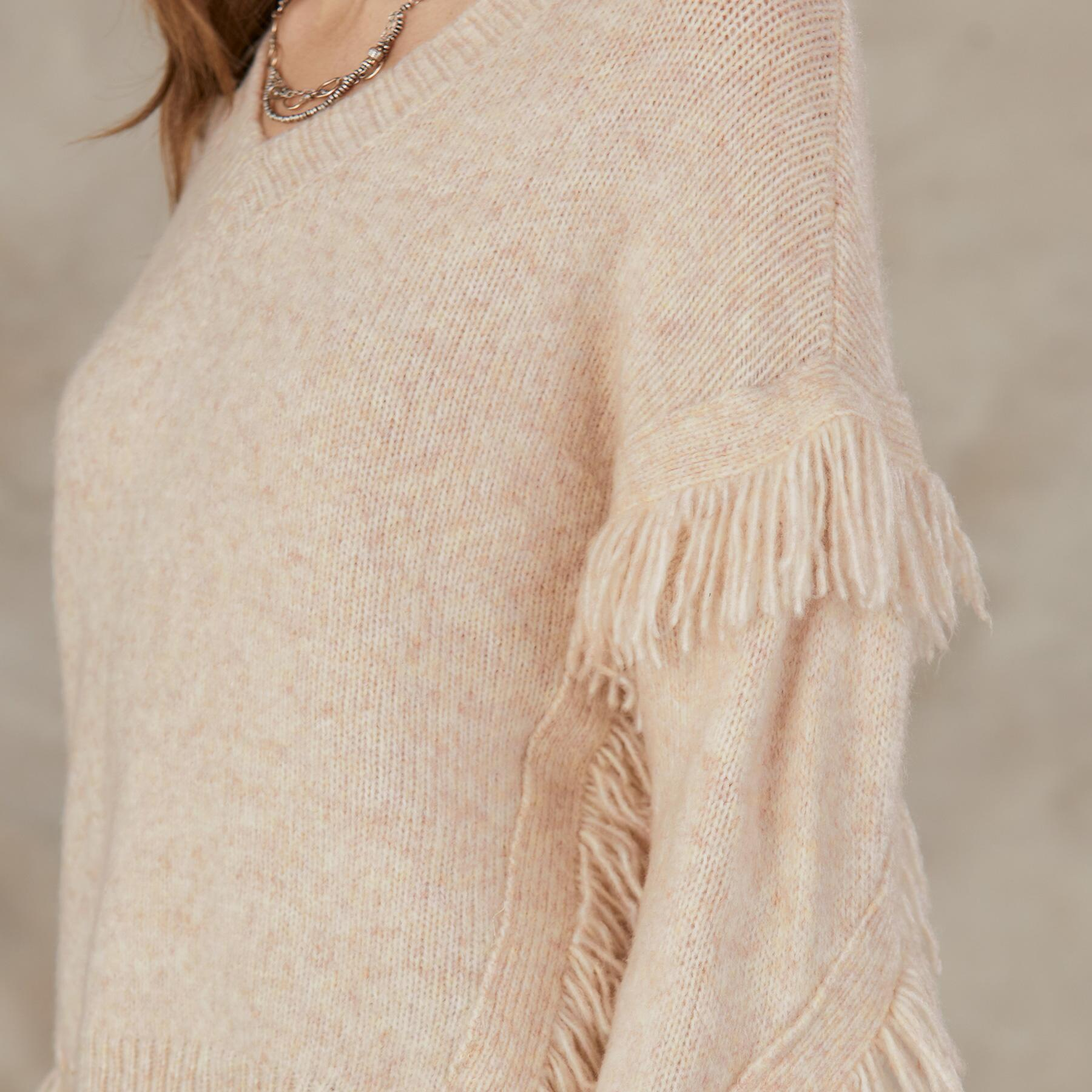 GO WEST V-NECK SWEATER: View 4