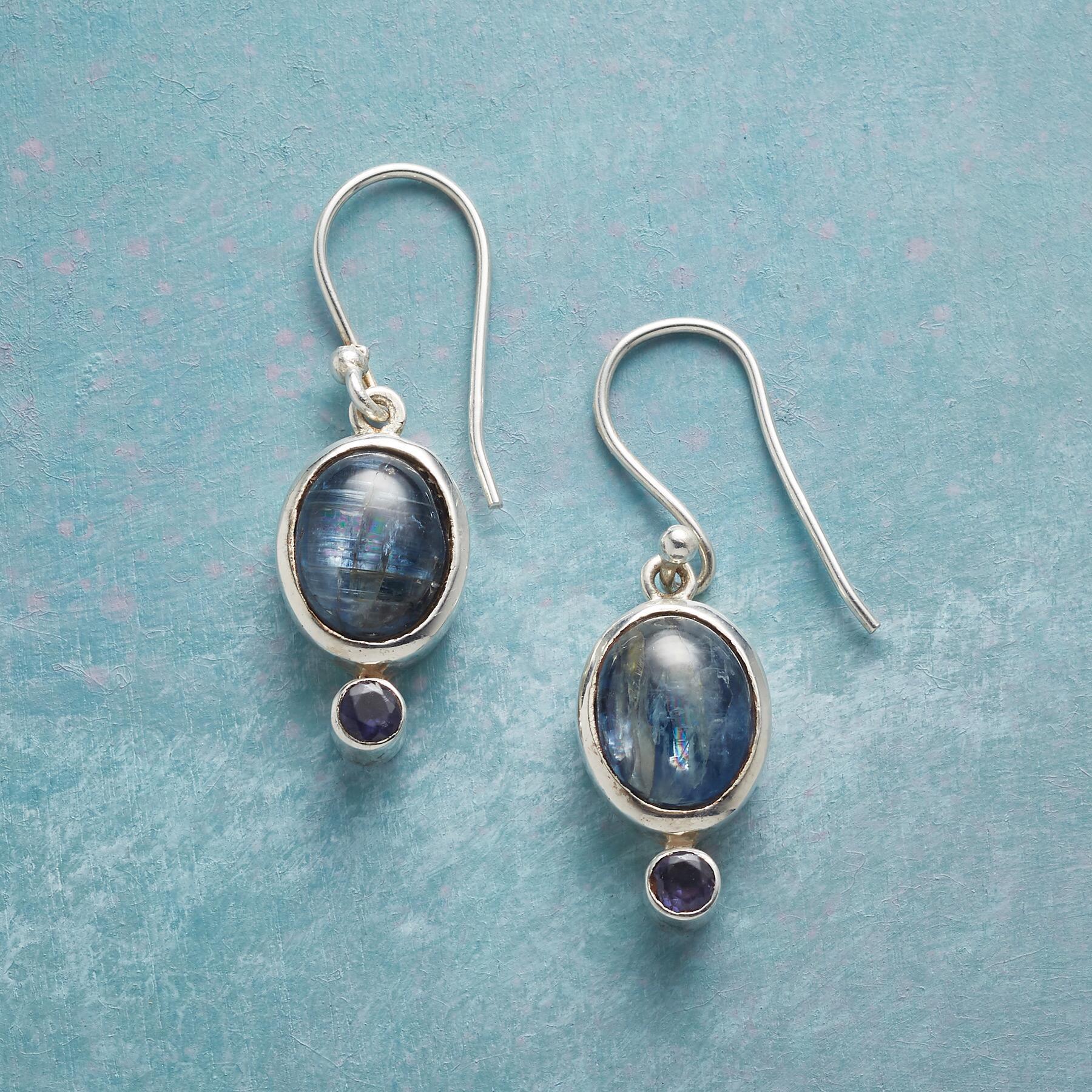 BLUE ECHO EARRINGS: View 1