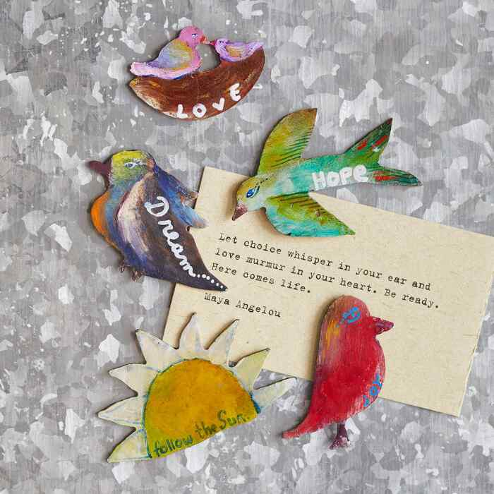 NOURISH THE SPIRIT MAGNETS, SET OF 5