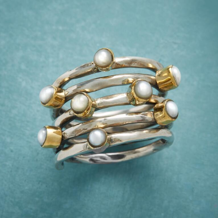 COILED PEARL RING