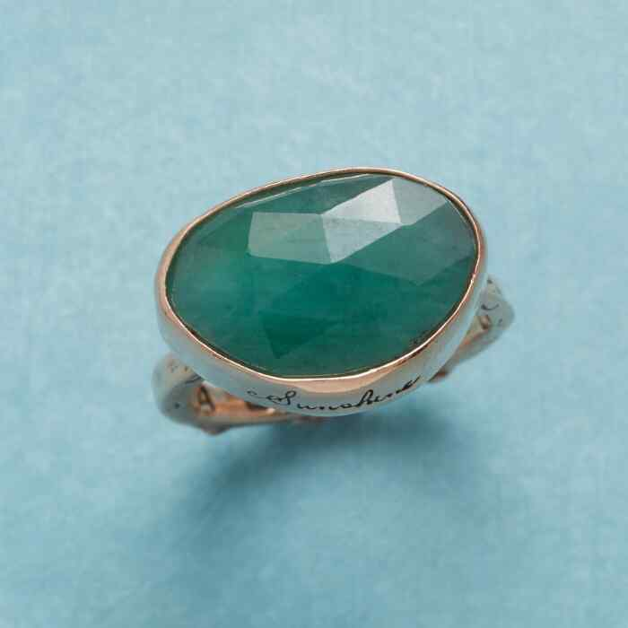 ODE TO JOY EMERALD RING