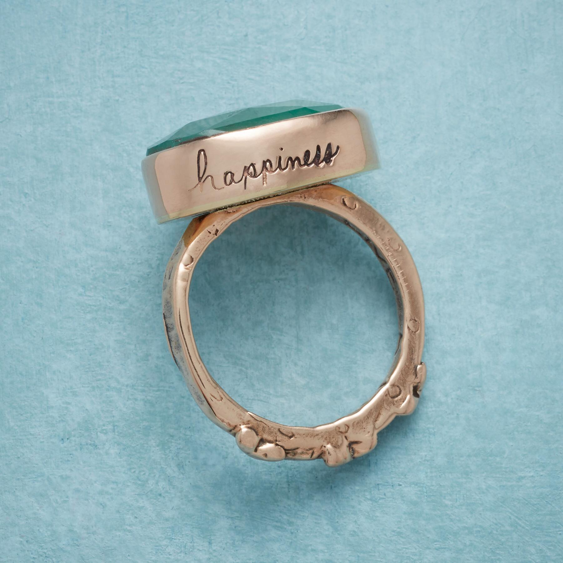 ODE TO JOY EMERALD RING: View 3