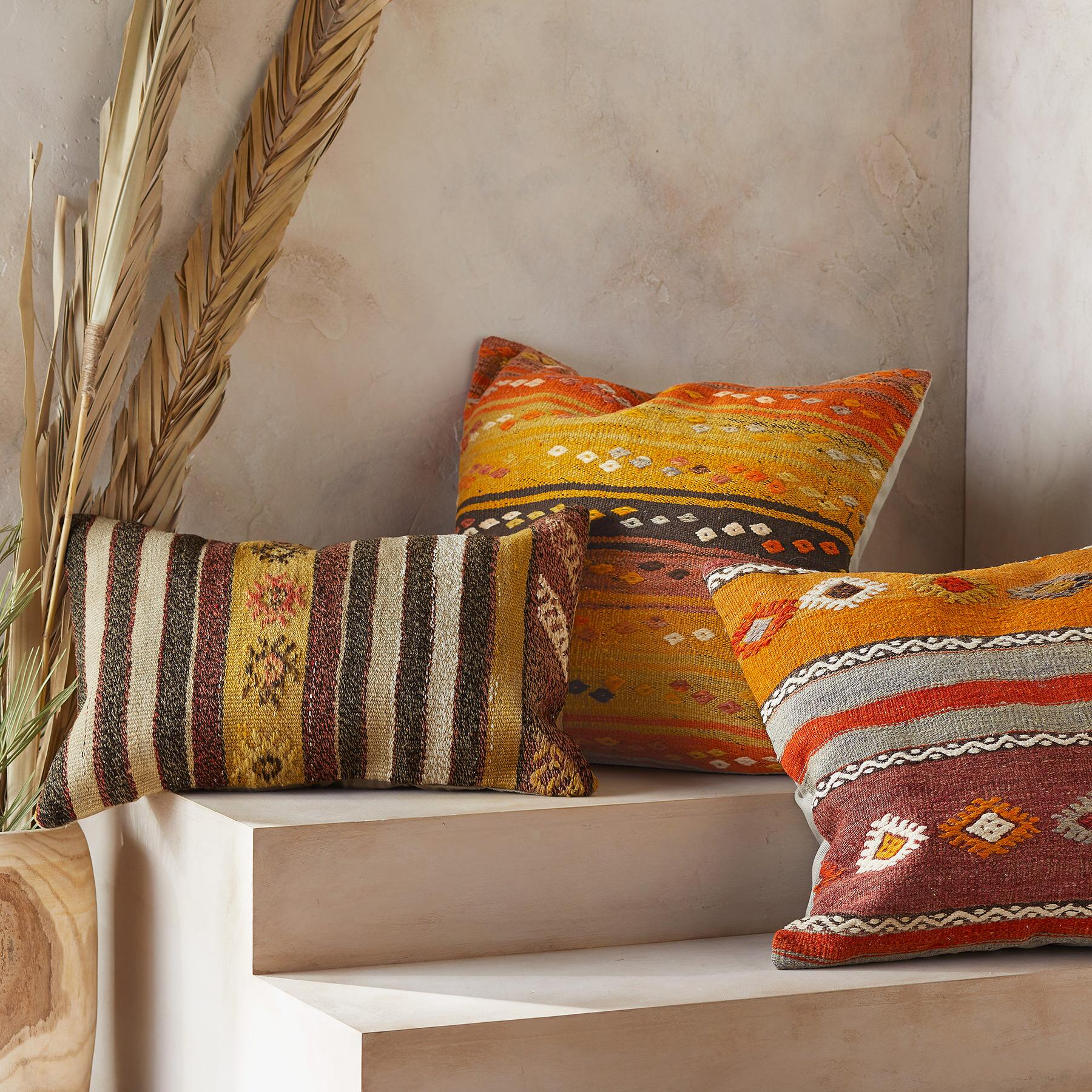 SOLEINE ONE-OF-A-KIND KILIM PILLOWS: View 1