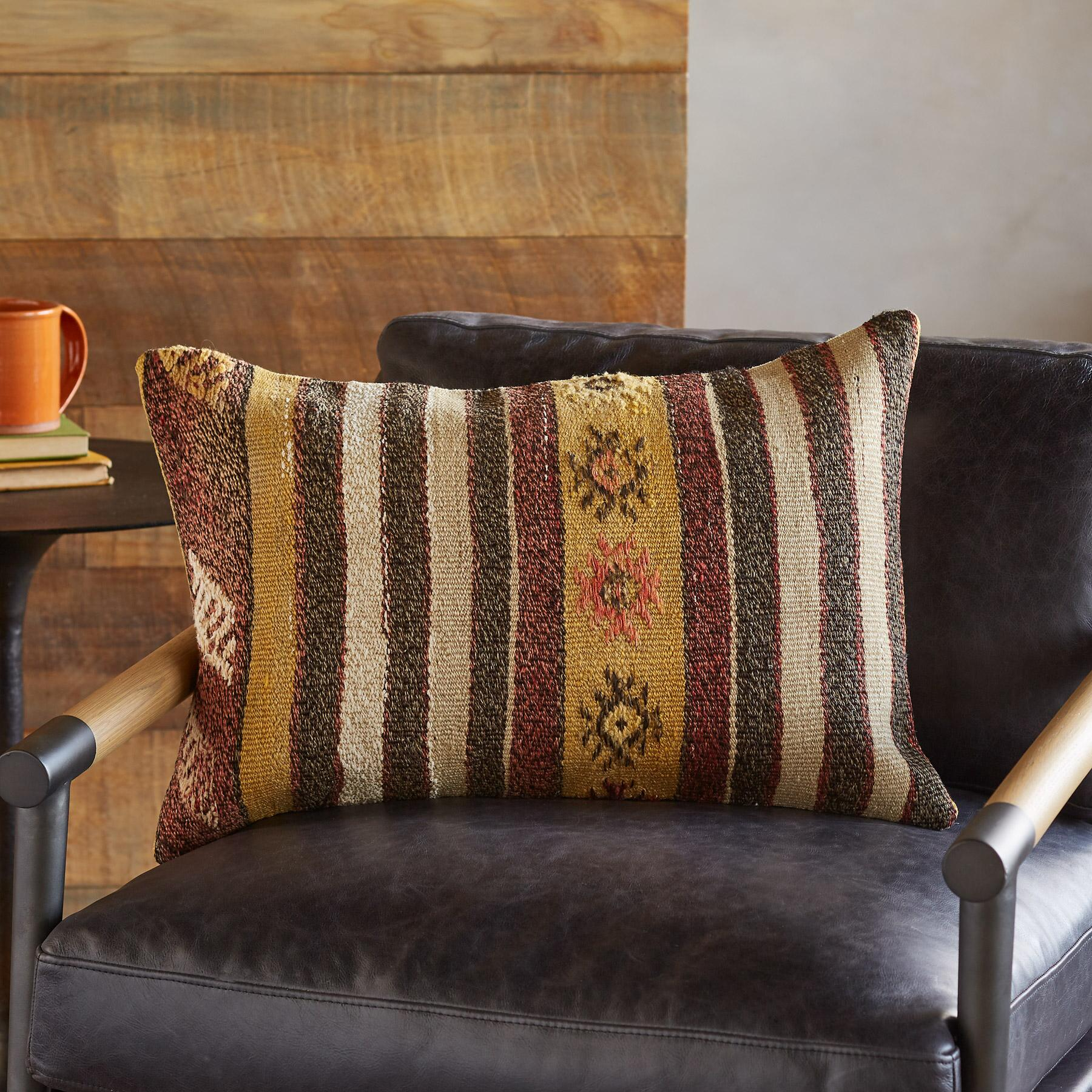 SOLEINE ONE-OF-A-KIND KILIM PILLOWS: View 2