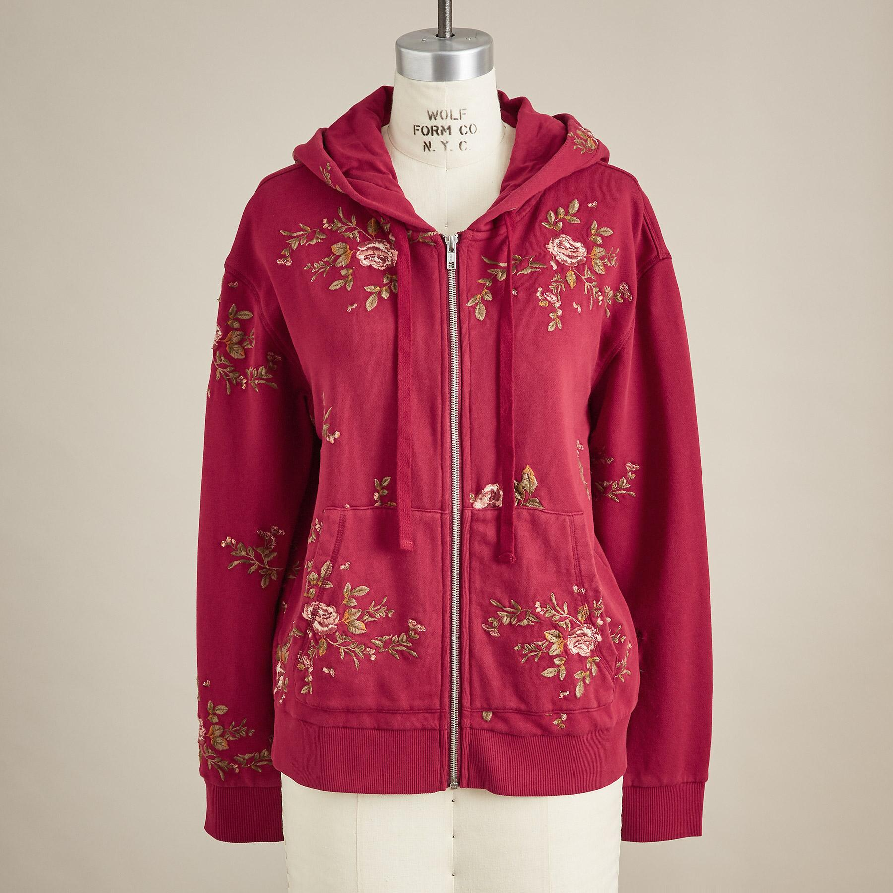 EMMA EMBROIDERED HOODIE: View 3