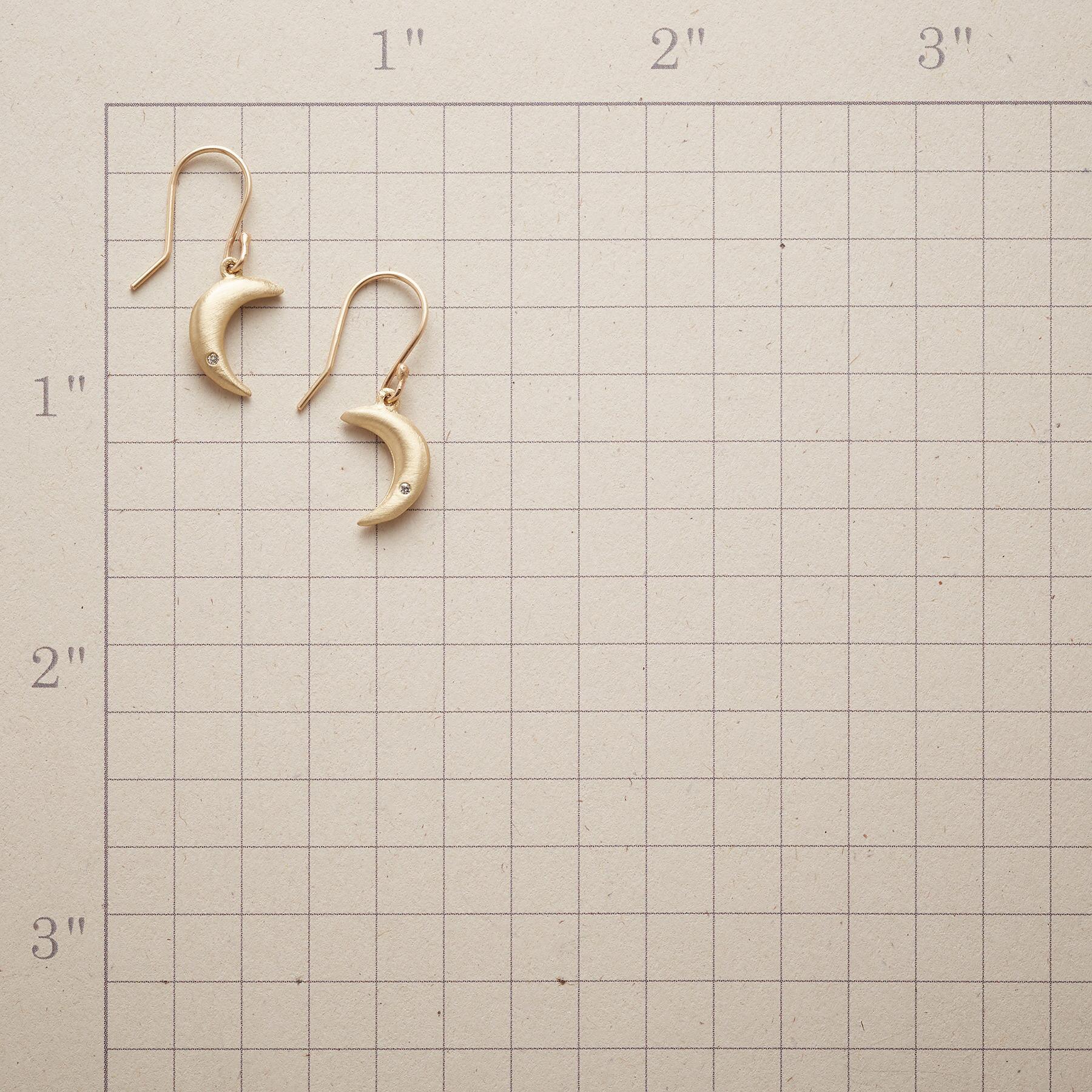 DIAMOND MOONLIGHT EARRINGS: View 2