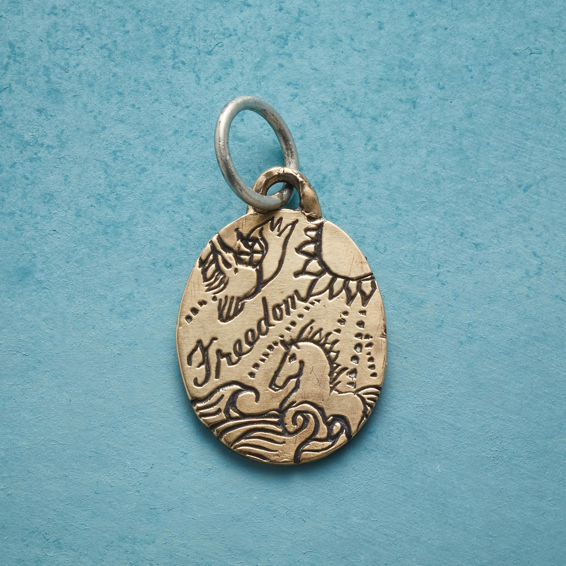 GOLD FREEDOM CHARM: View 1