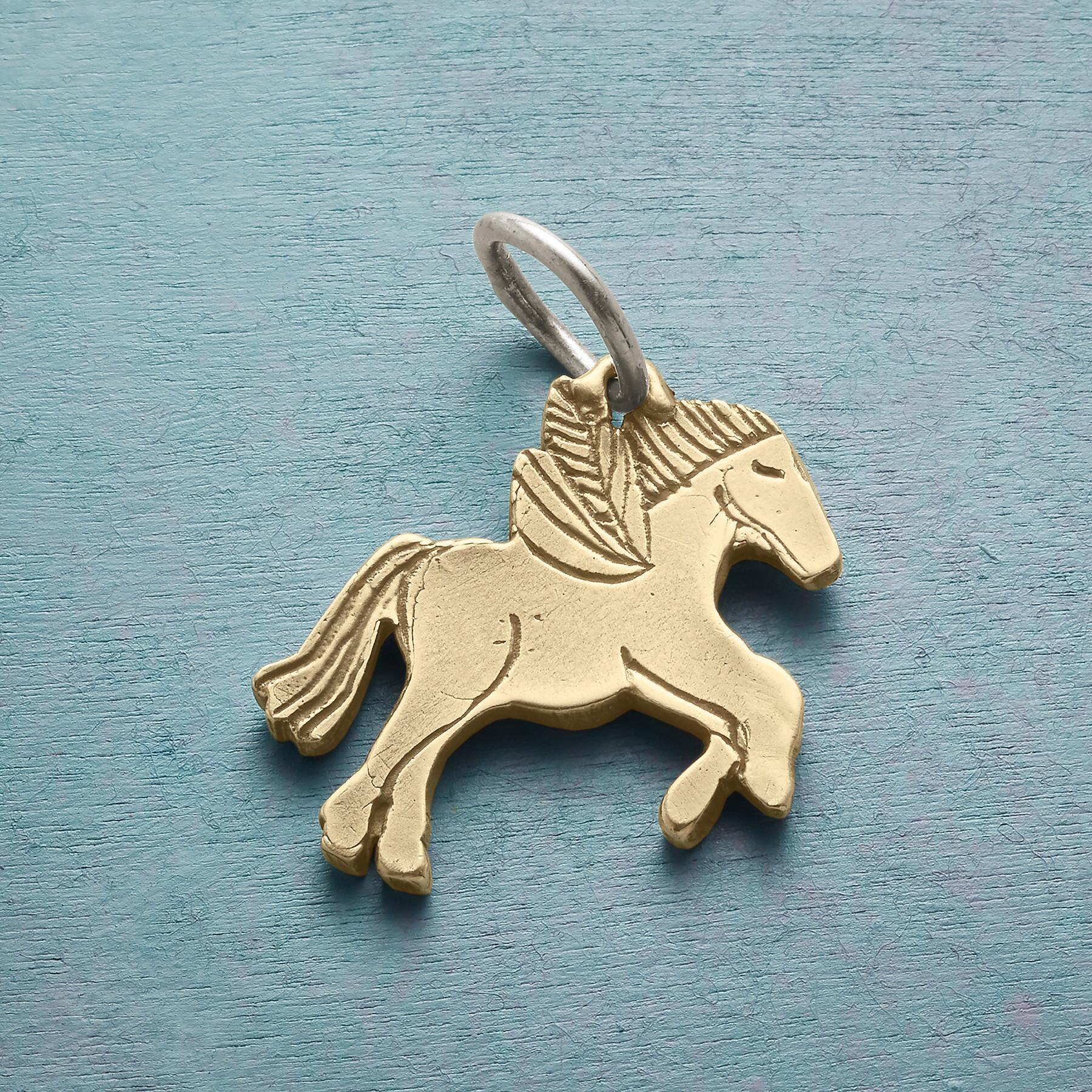 14KT GOLD WINGED HORSE CHARM: View 2