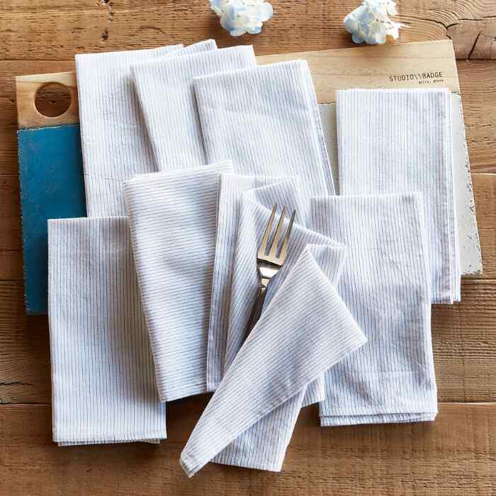 NOBLE STRIPES NAPKINS, SET OF 8