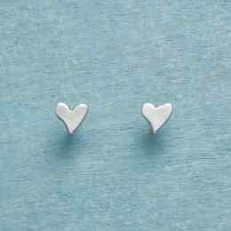 STERLING SILVER PRECIOUS LOVE EARRINGS