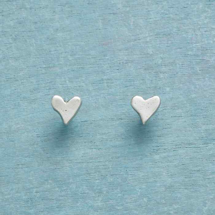 STERLING SILVER PRECIOUS LOVE EARRINGS
