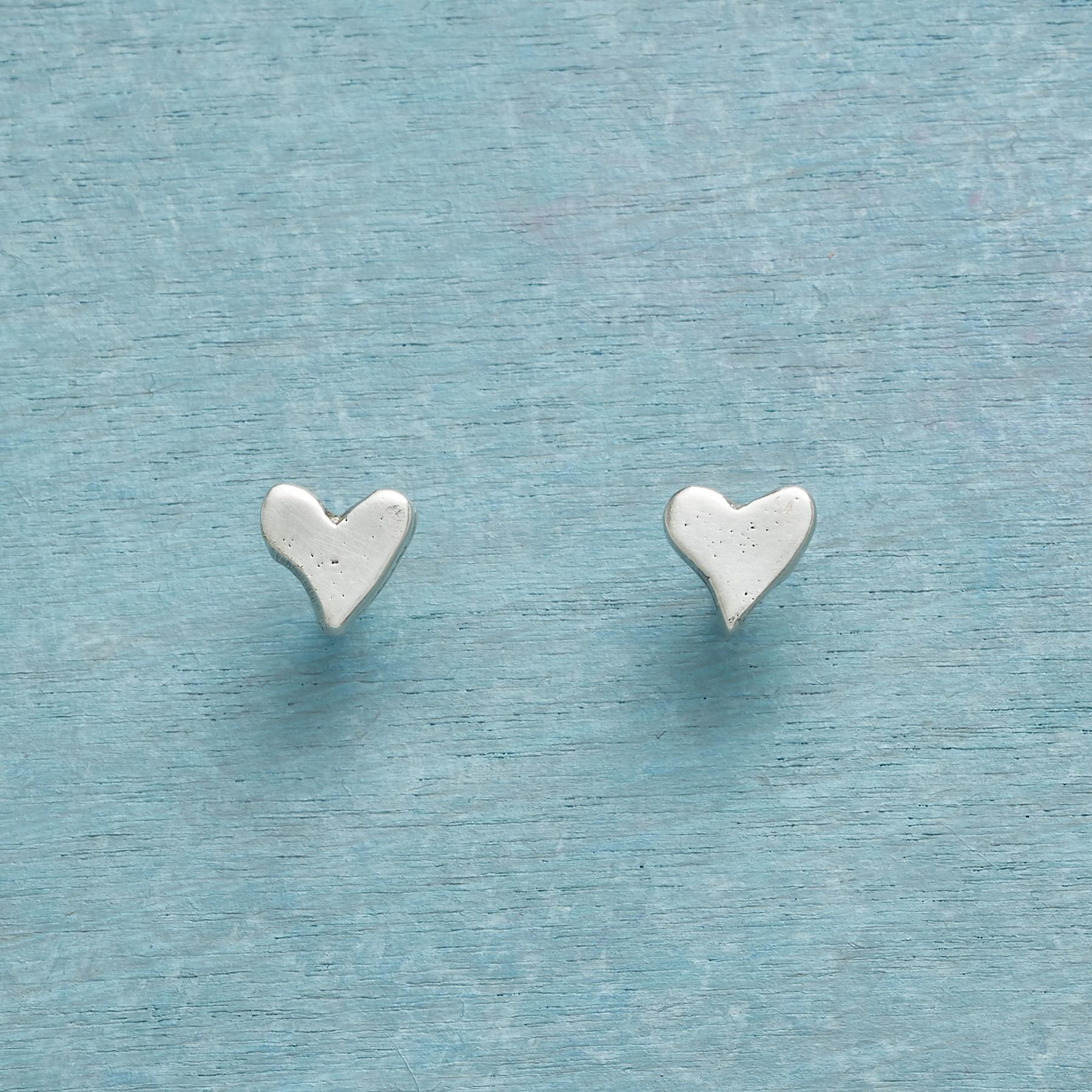STERLING SILVER PRECIOUS LOVE EARRINGS: View 1
