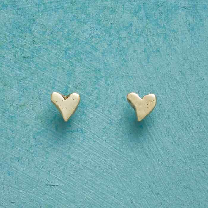 YELLOW GOLD PRECIOUS LOVE EARRINGS