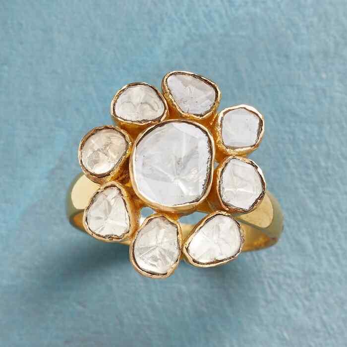 POLKI DIAMOND FLOWER RING
