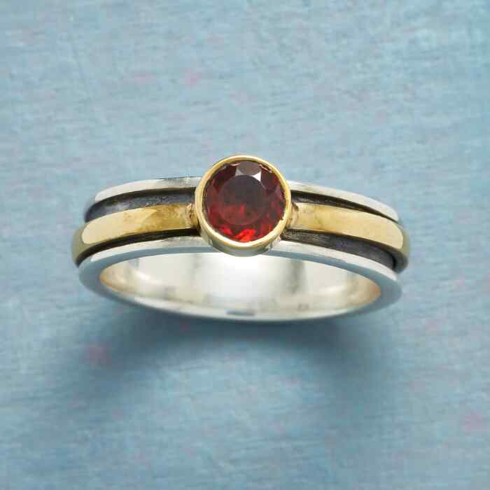 ROUNDABOUT GARNET RING