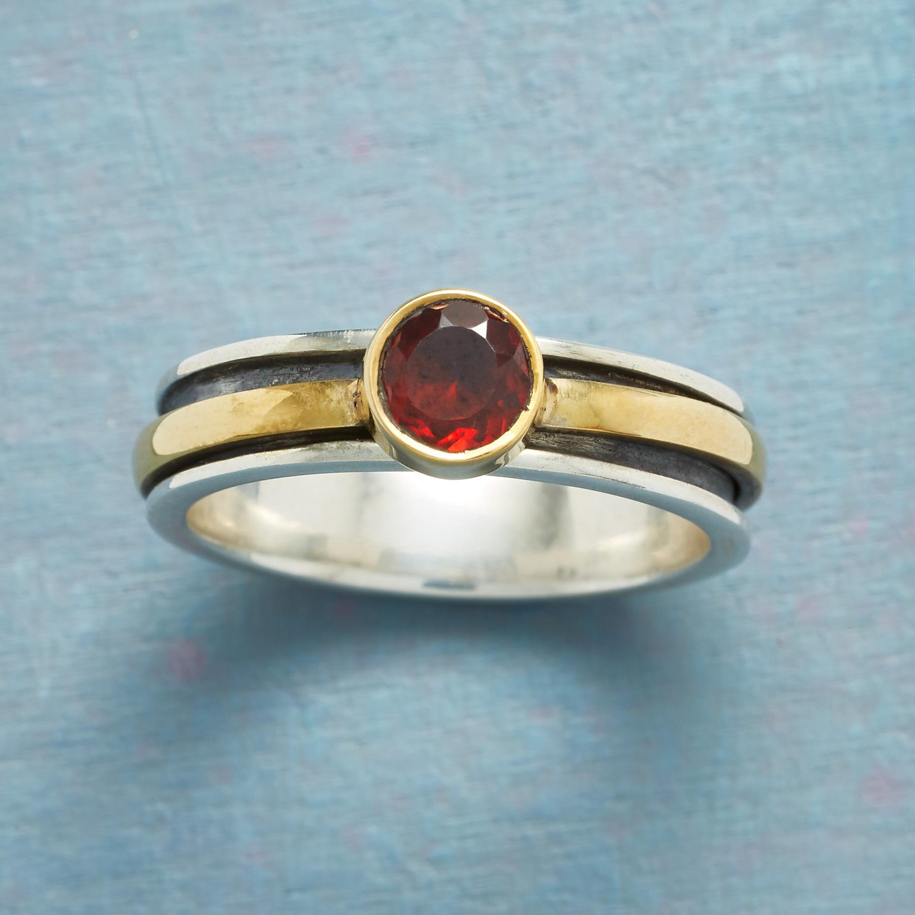 ROUNDABOUT GARNET RING: View 1