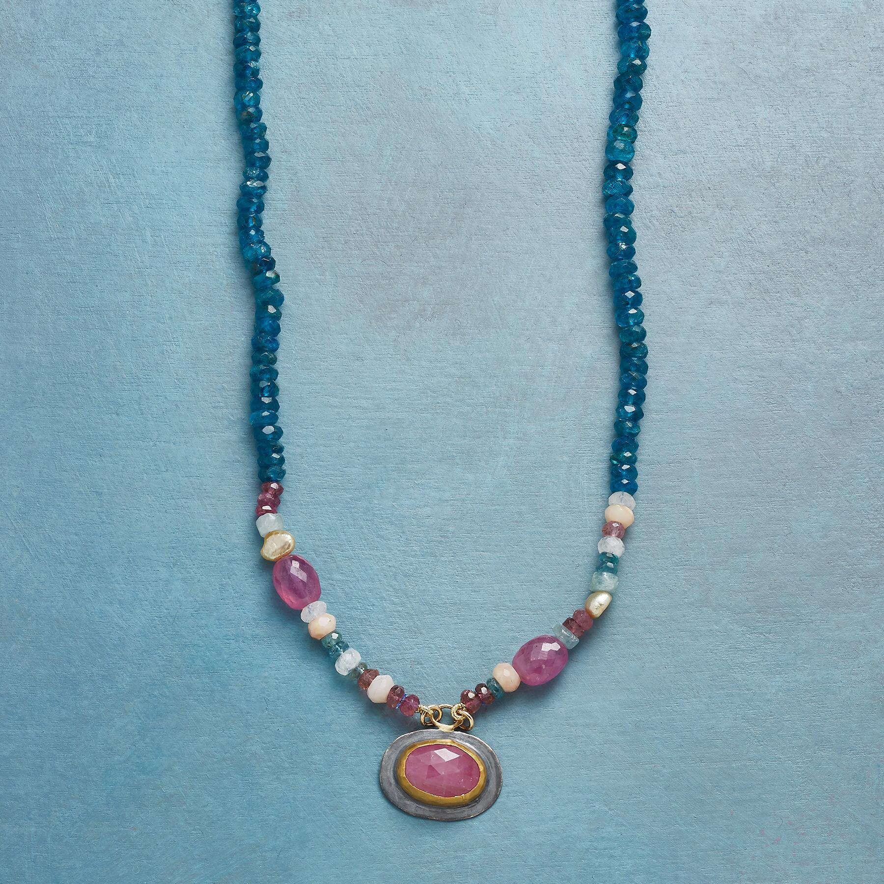 SAPPHIRE KEYNOTE NECKLACE: View 1
