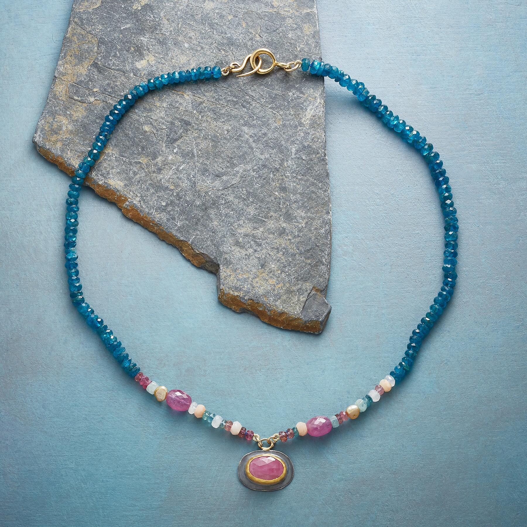 SAPPHIRE KEYNOTE NECKLACE: View 2