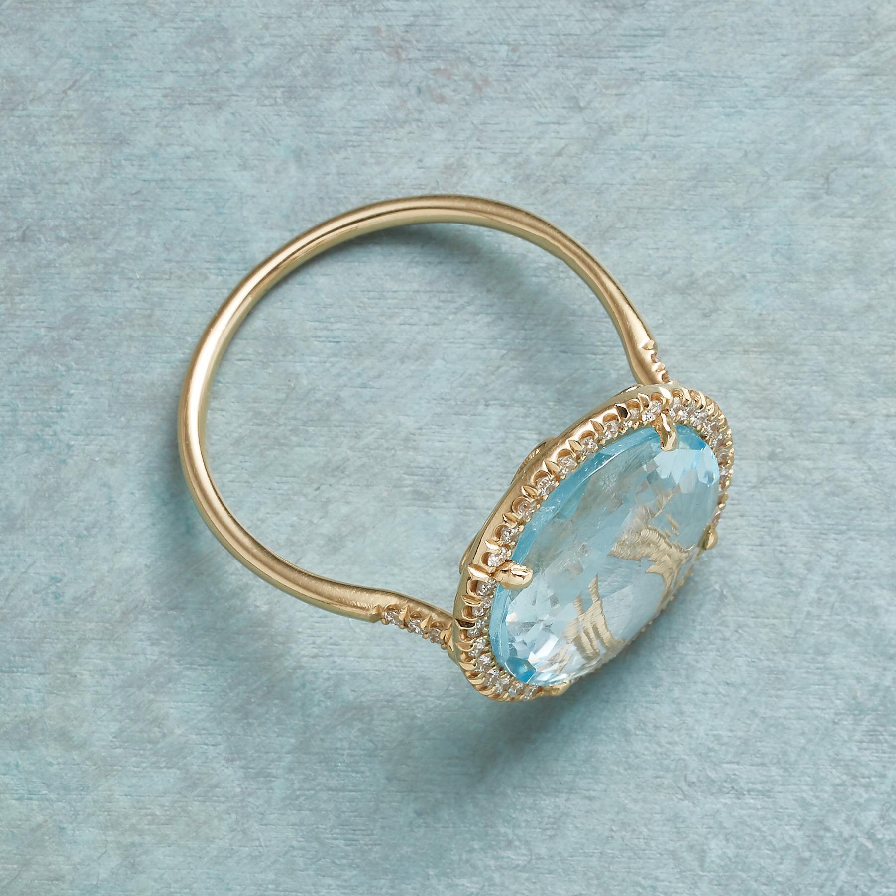 DIAMOND HALO TOPAZ RING: View 2