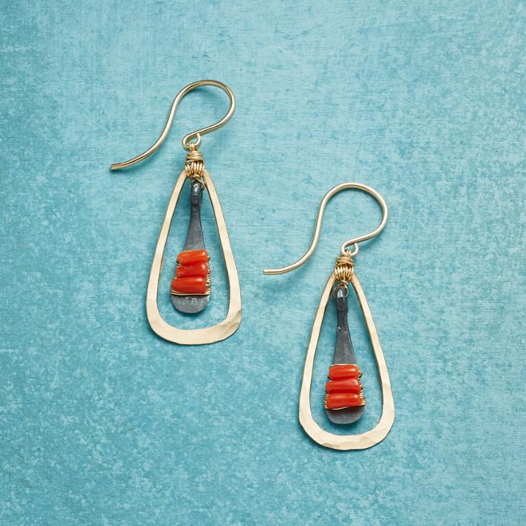 CORAL BELLS EARRINGS