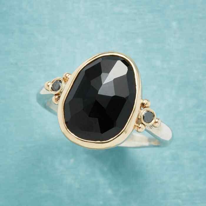 BLACK ROSE GARDEN RING