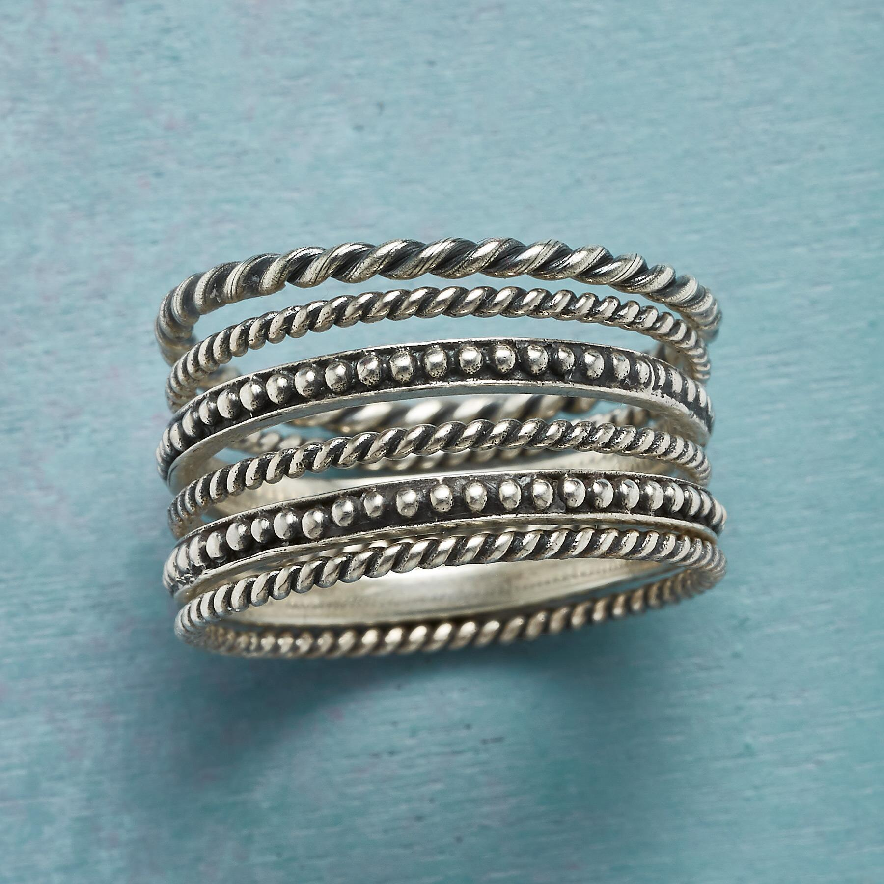 SIX INSTEAD RINGS, SET OF 6: View 1