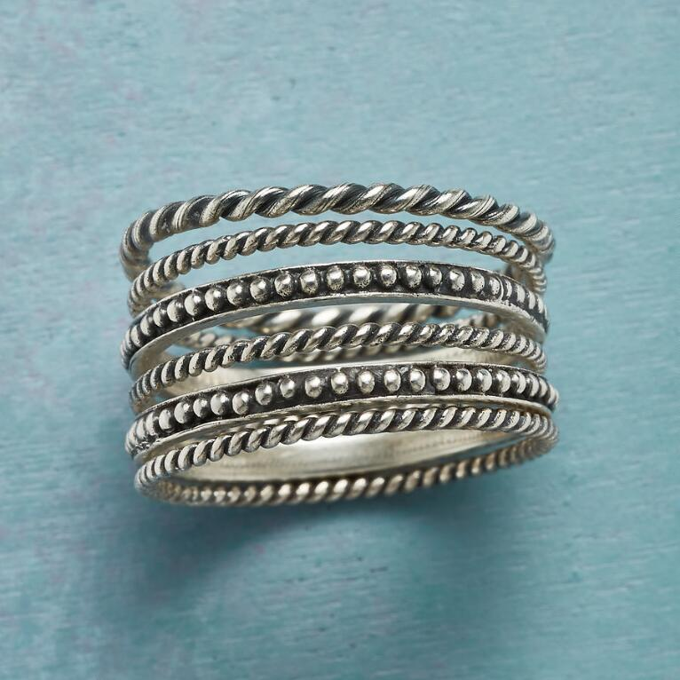 SIX INSTEAD RINGS, SET OF 6