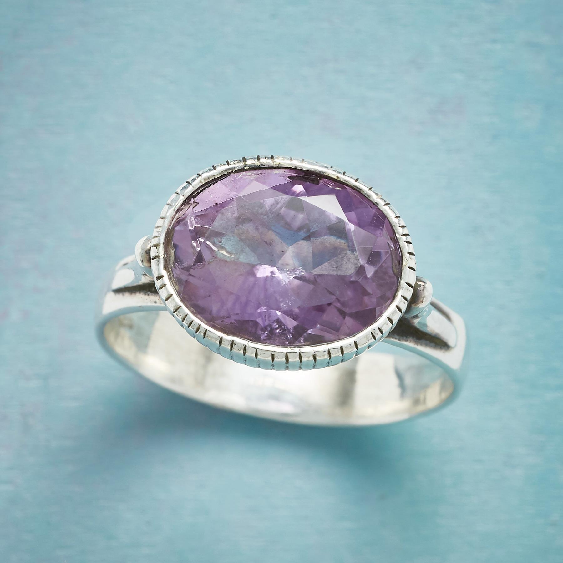 AMETHYST CHALICE RING: View 1