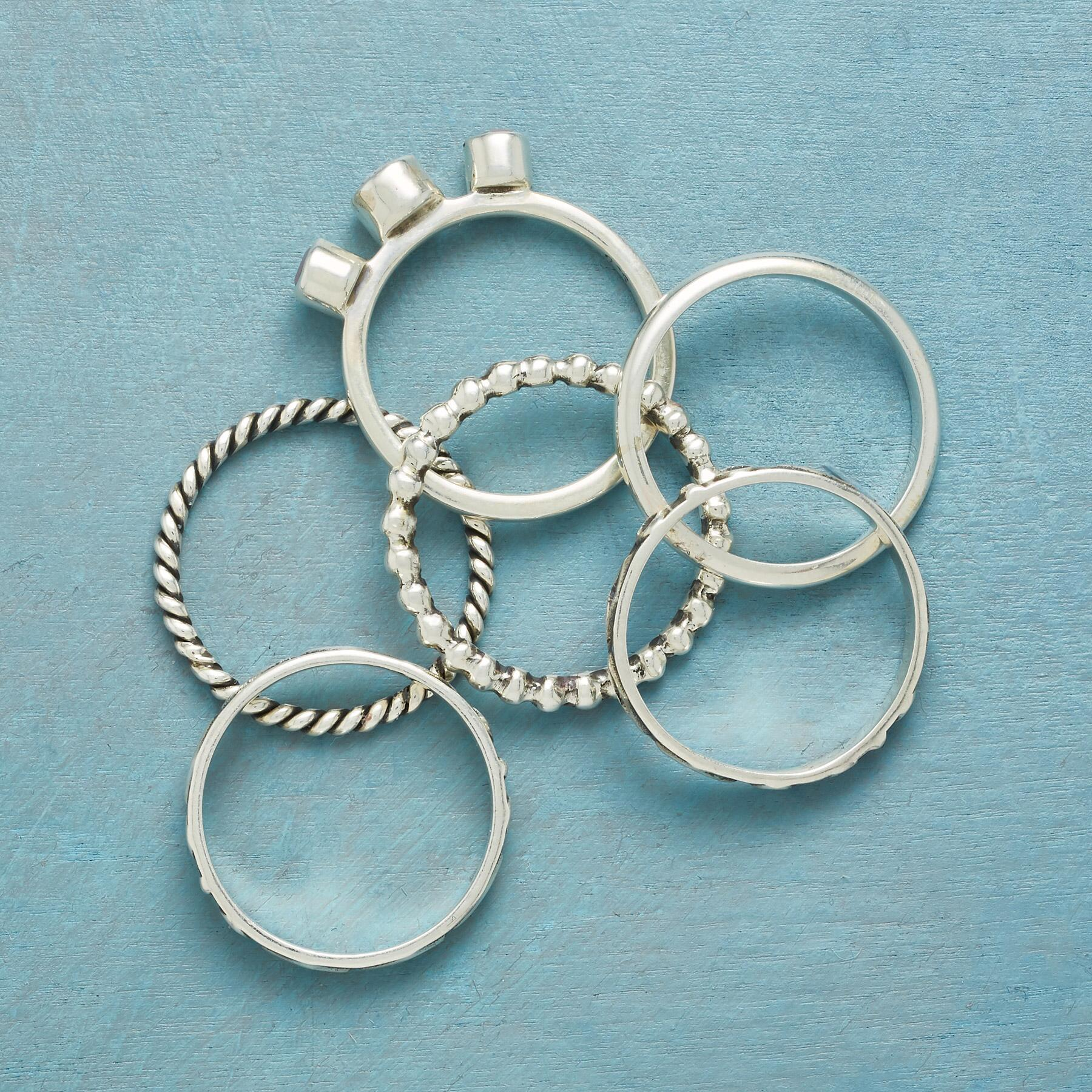 ONE FINE MOMENT RINGS, SET OF 6: View 2