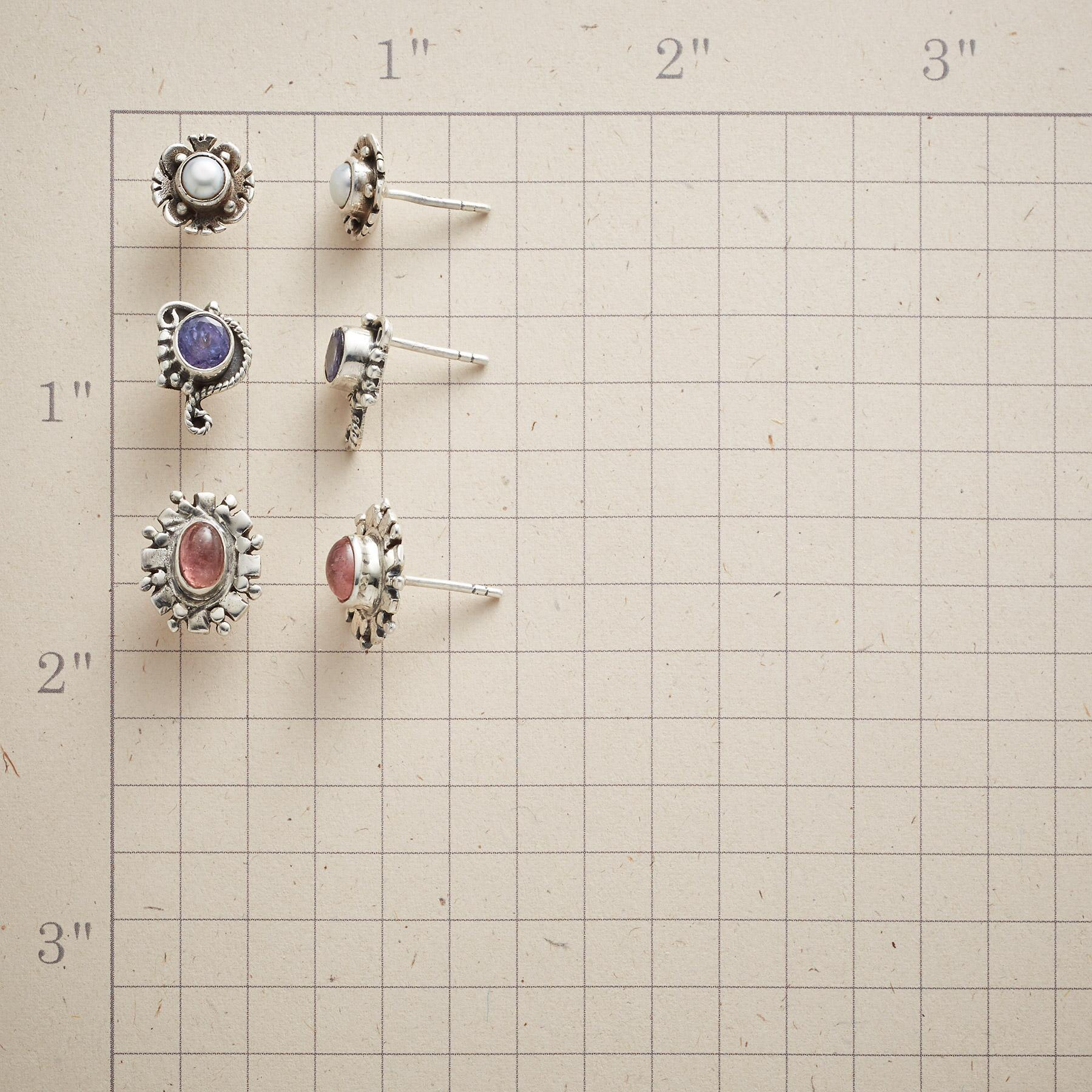 STERLING OPTIONS EARRINGS, SET OF 3: View 2