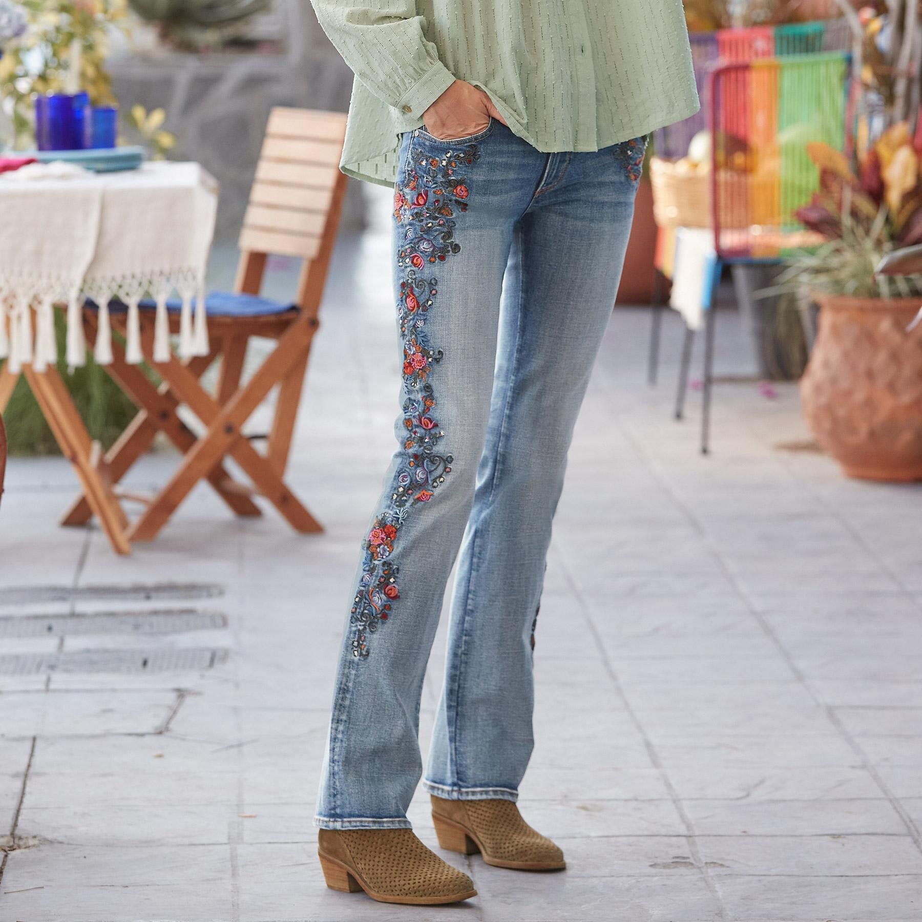 KELLY MULBERRY BLOSSOM JEANS: View 1