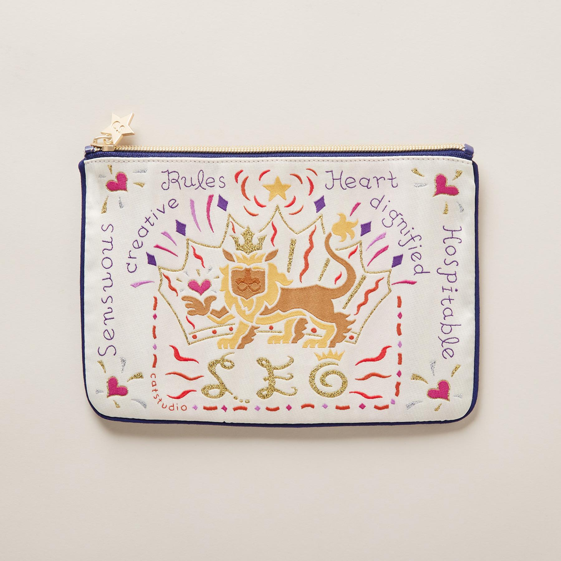 ZODIAC ZIPPERED POUCH: View 2