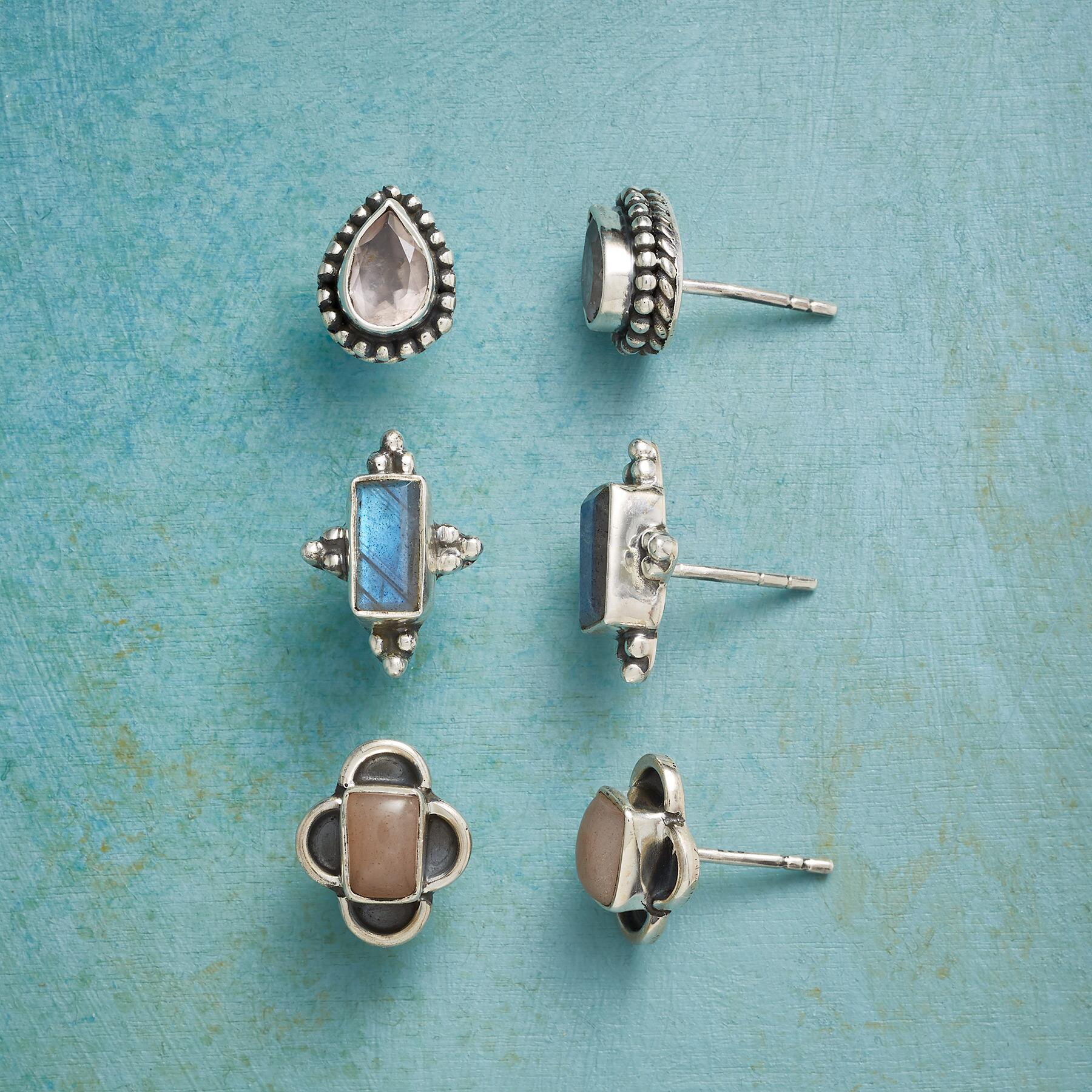 MORNING MIST EARRING TRIO: View 1