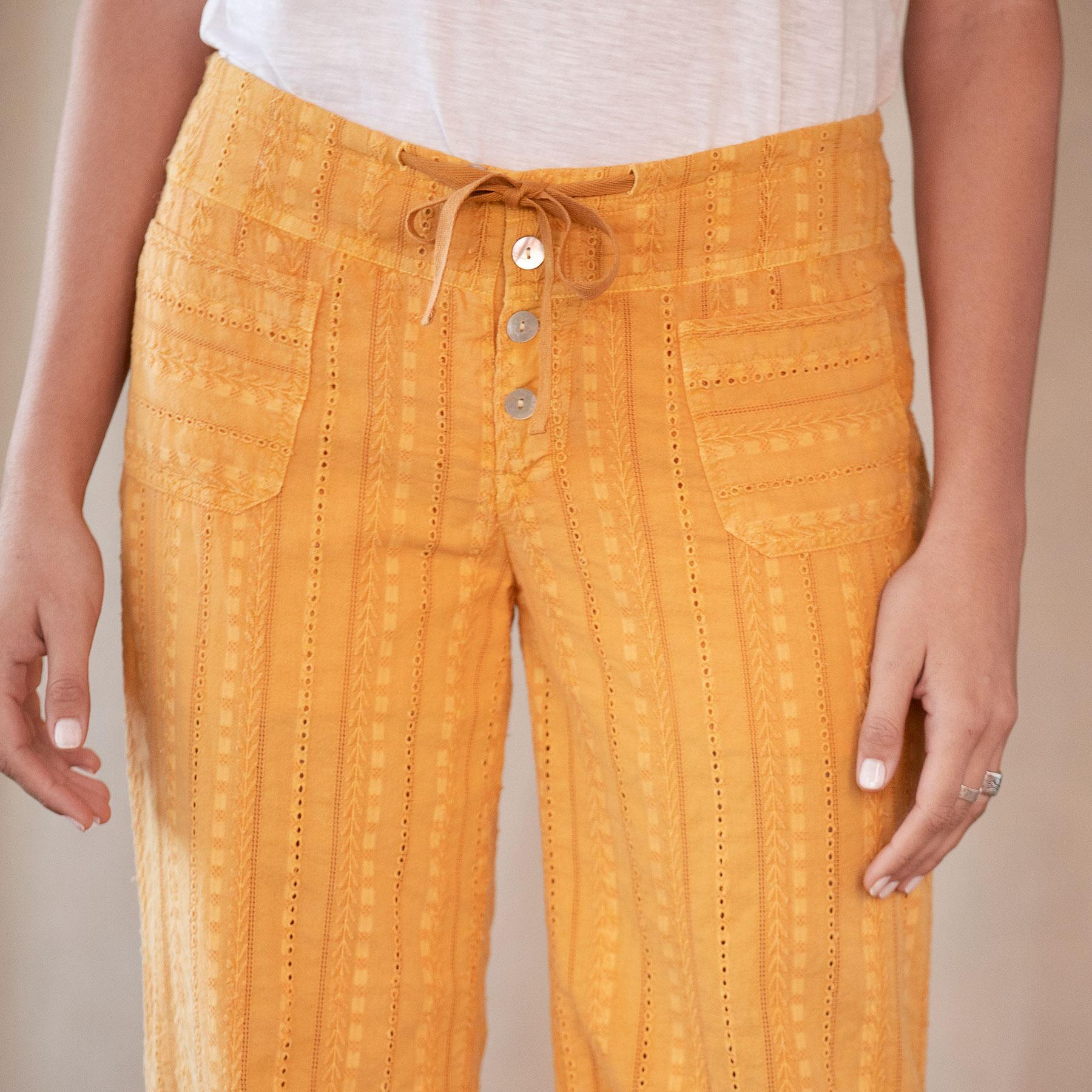 GIGI EYELET PANTS: View 4