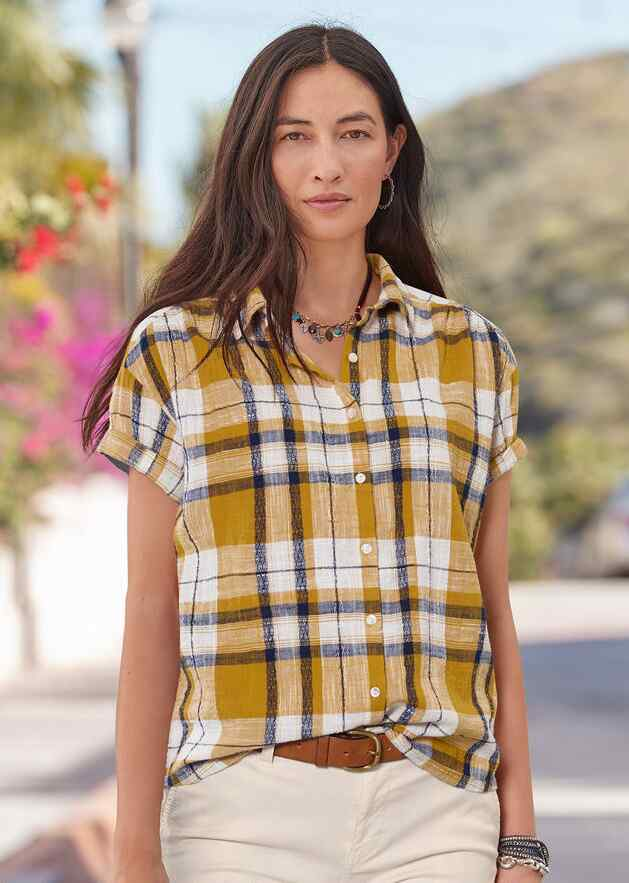 GIA PLAID TOP