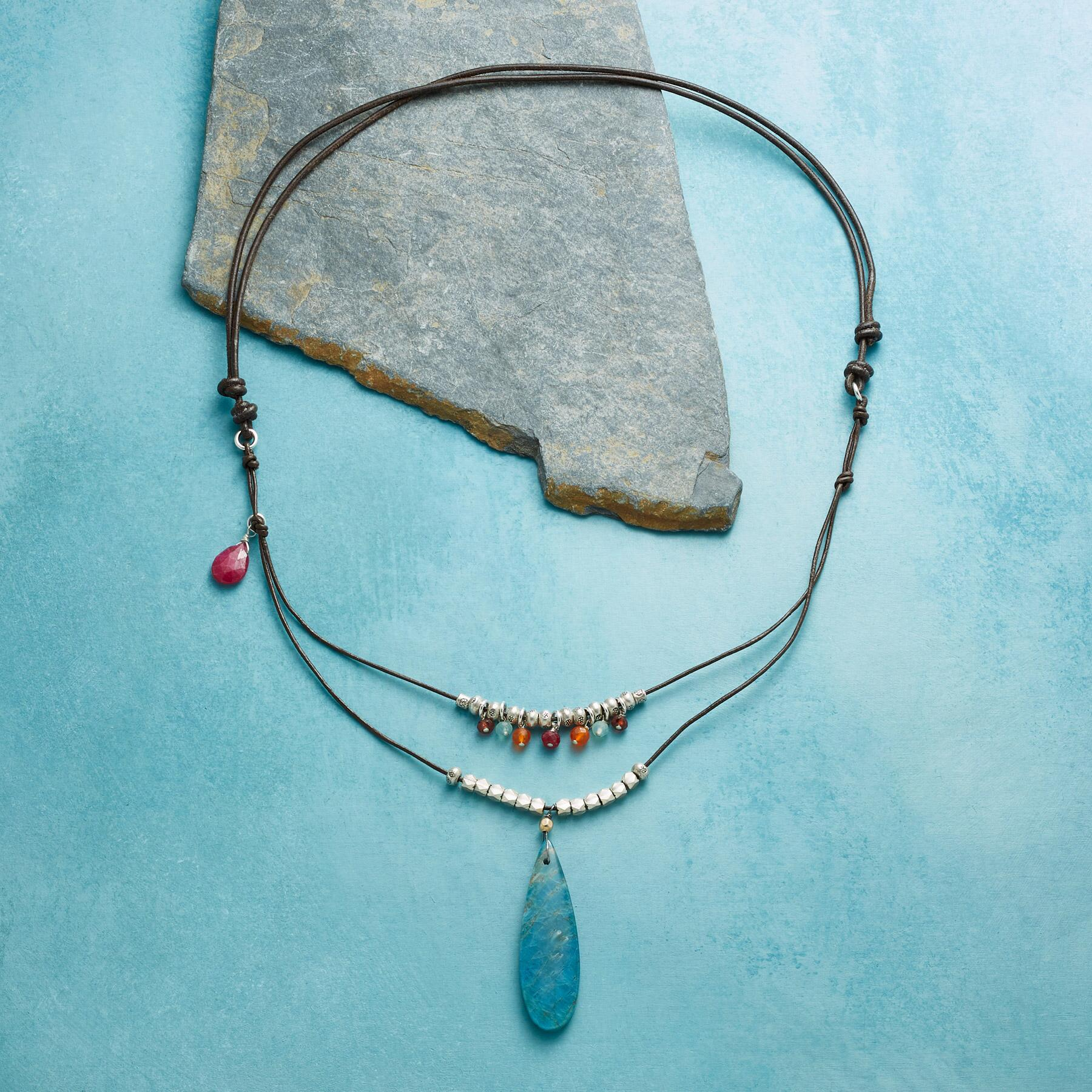 FADE TO BLUE NECKLACE: View 2