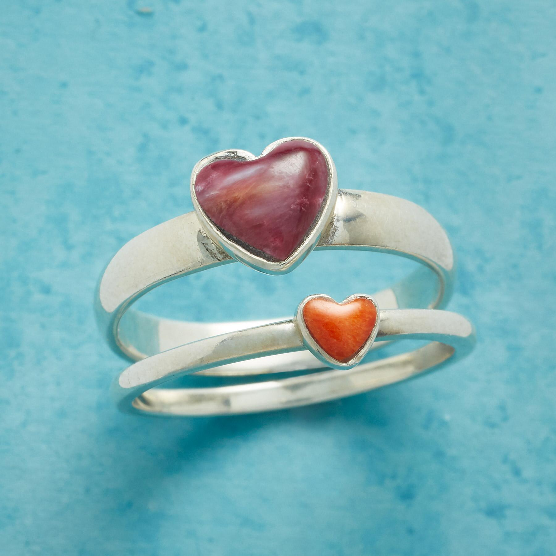 YOU ARE ADORED RINGS, SET OF 2: View 1