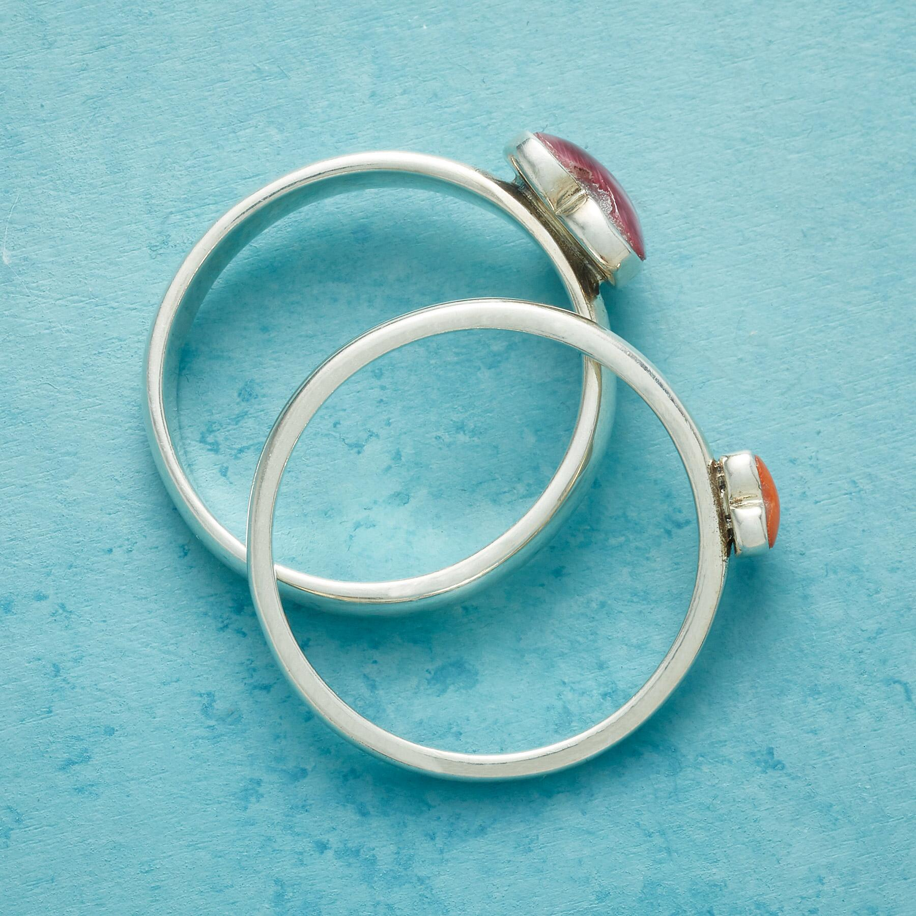 YOU ARE ADORED RINGS, SET OF 2: View 2
