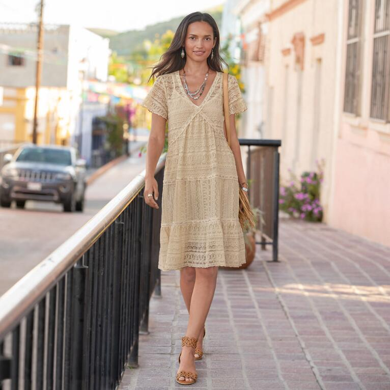 WALK IN THE MEADOWS DRESS - PETITES