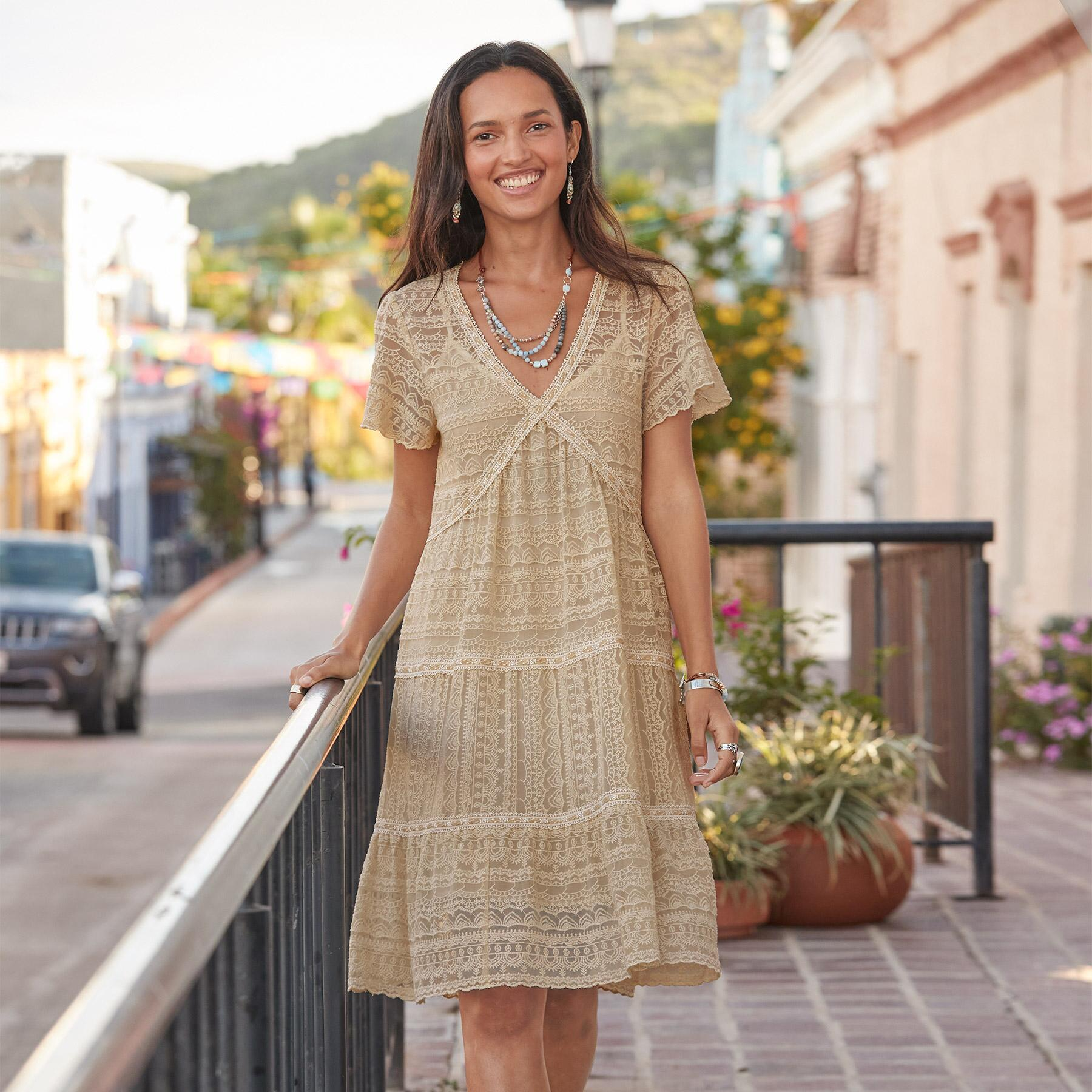 WALK IN THE MEADOWS DRESS - PETITES: View 2