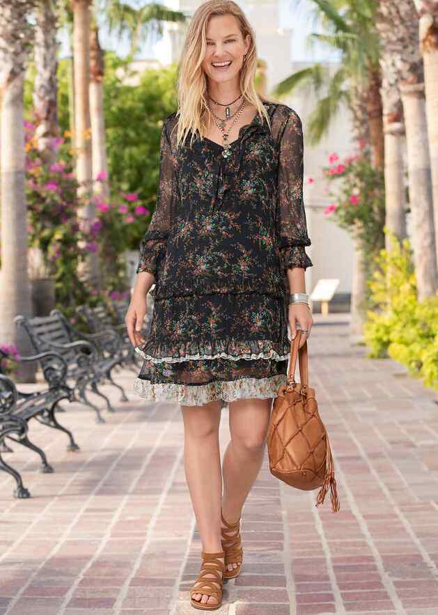 MIST IN THE MEADOWS DRESS - PETITES