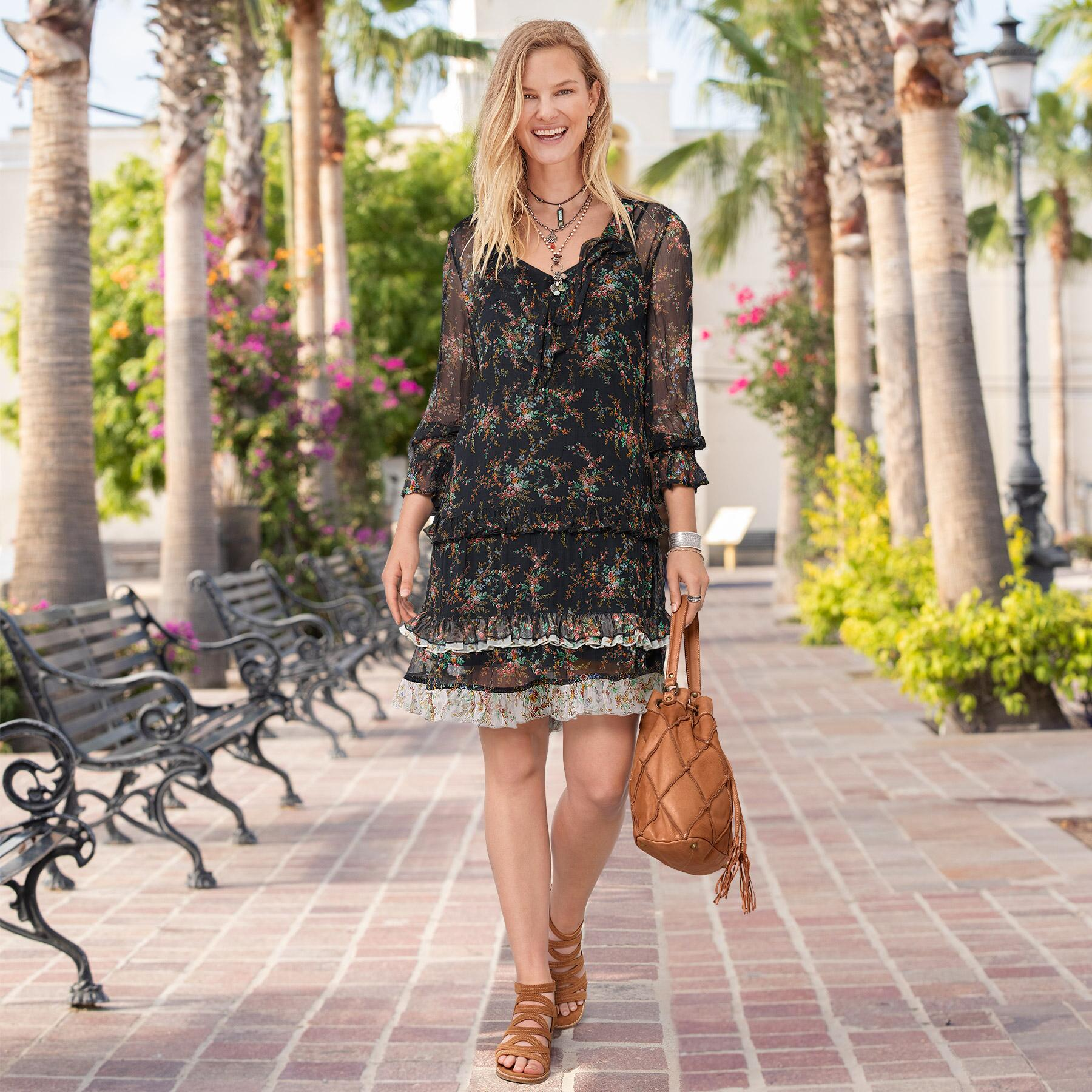 MIST IN THE MEADOWS DRESS - PETITES: View 1