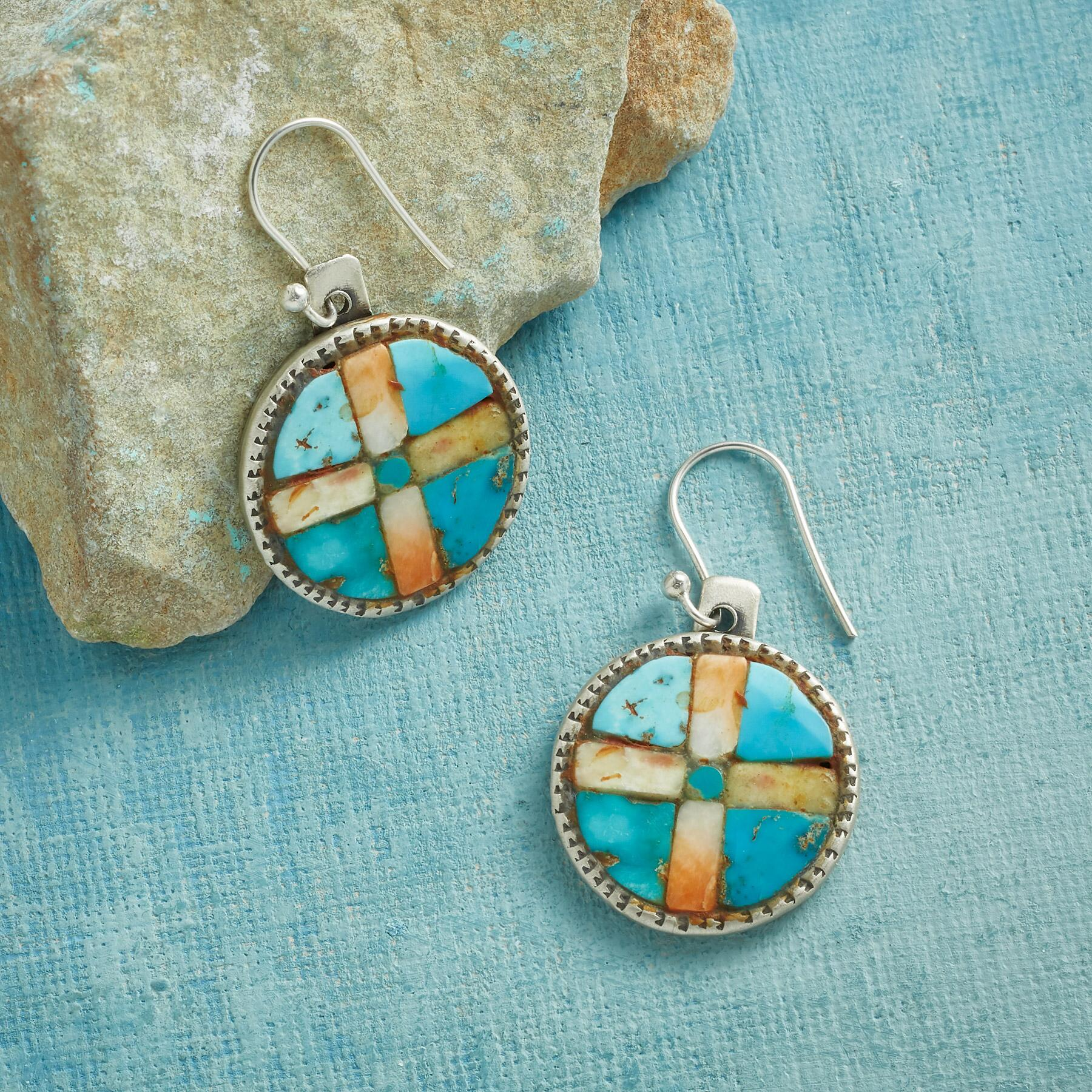 COMPASS POINTS EARRINGS: View 1