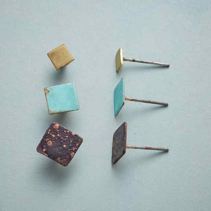 SQUARE ON STUDS, Set of 3