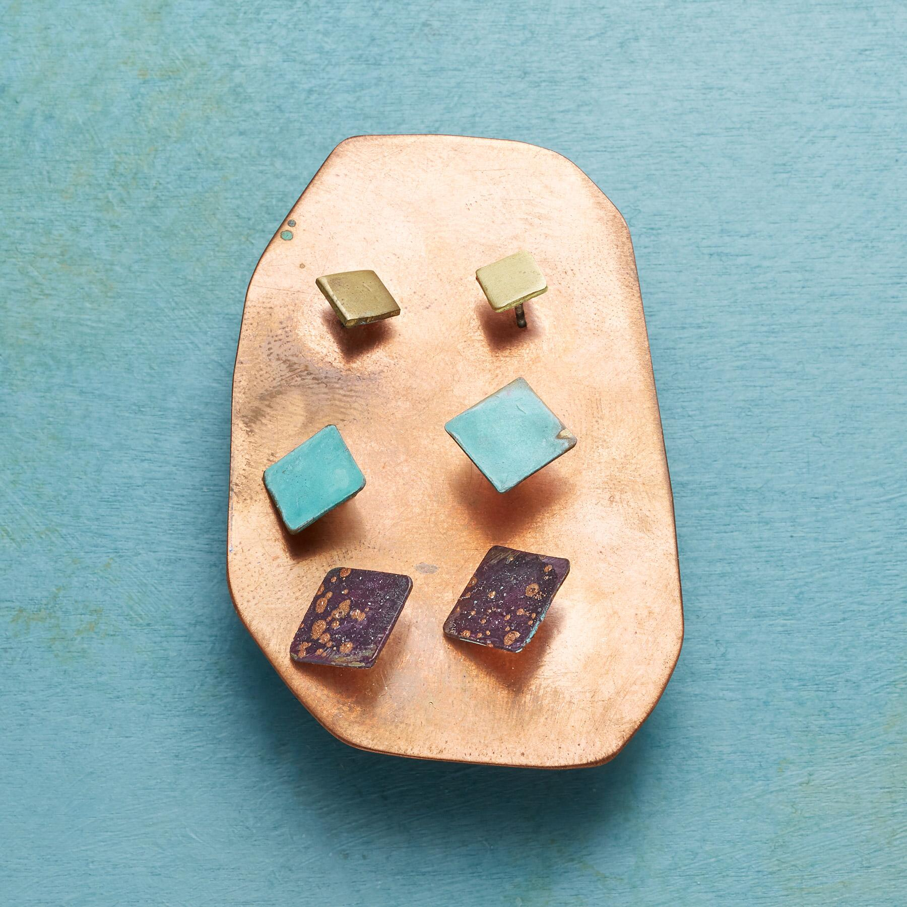 SQUARE ON STUDS, Set of 3: View 2