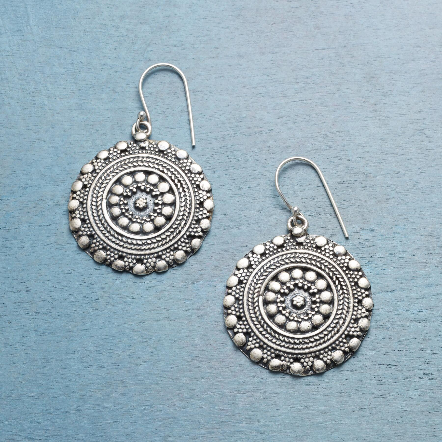 MEDALLION EARRINGS: View 1