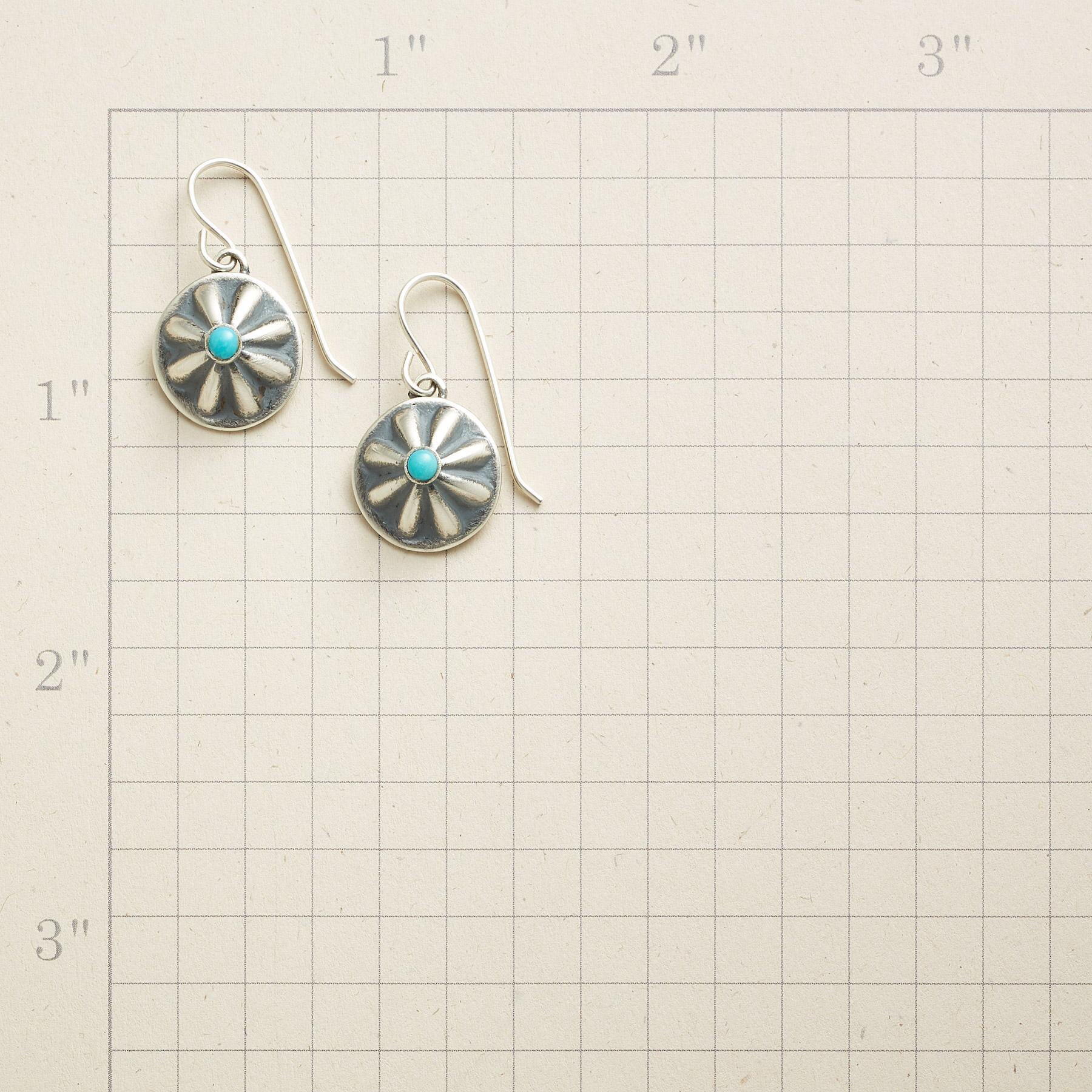 NAVAJO CONCHO EARRINGS: View 2