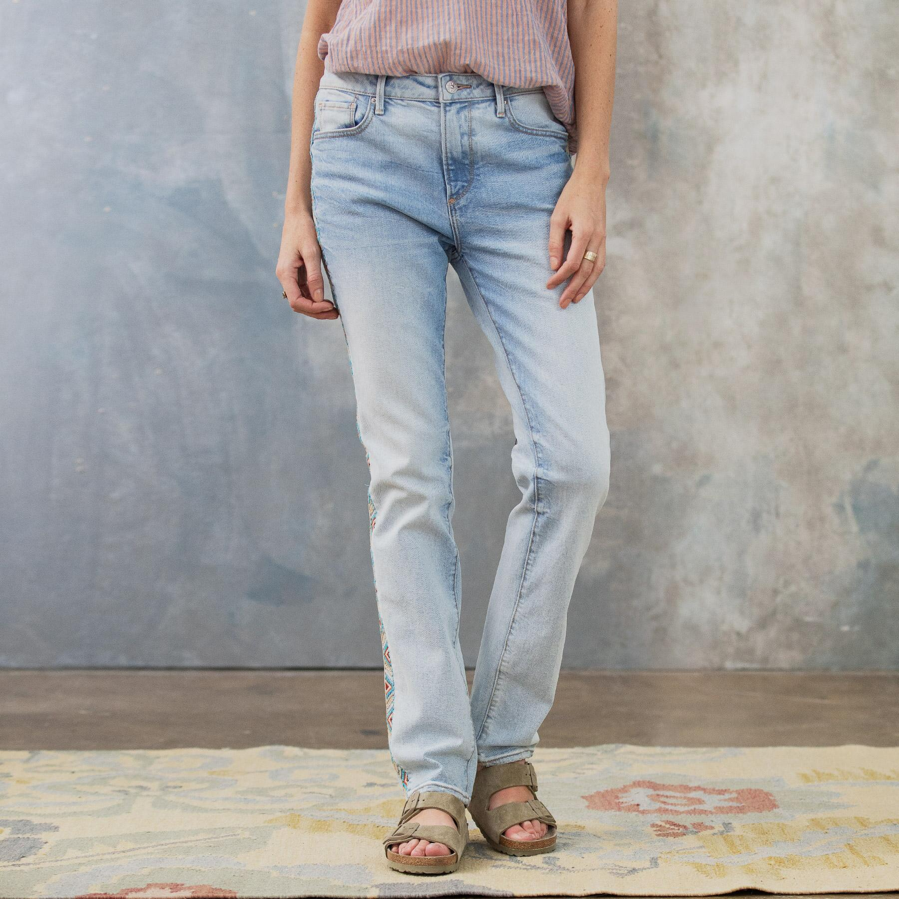 AUDREY HIGH RISE STRAIGHT JEANS: View 2