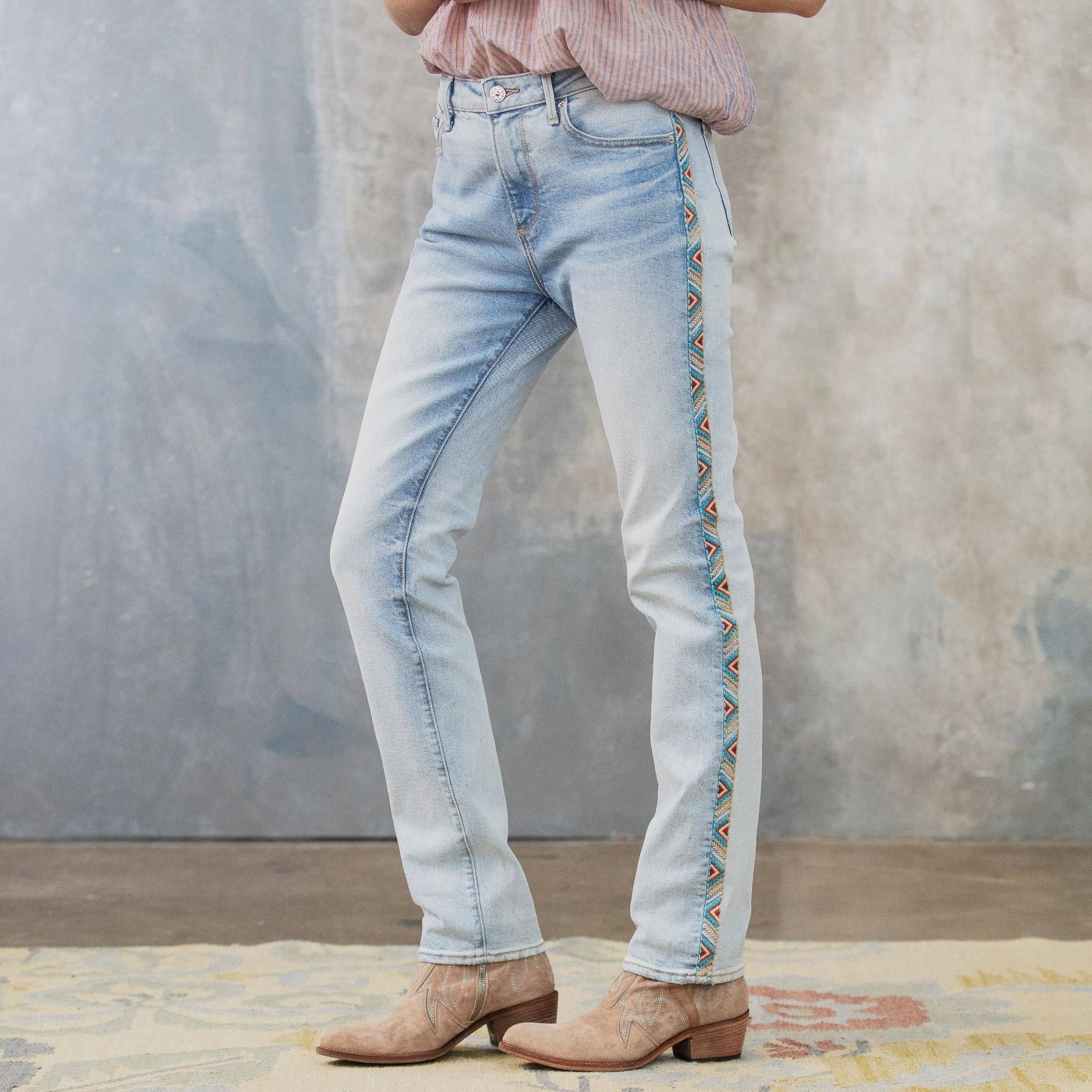 AUDREY HIGH RISE STRAIGHT JEANS: View 3