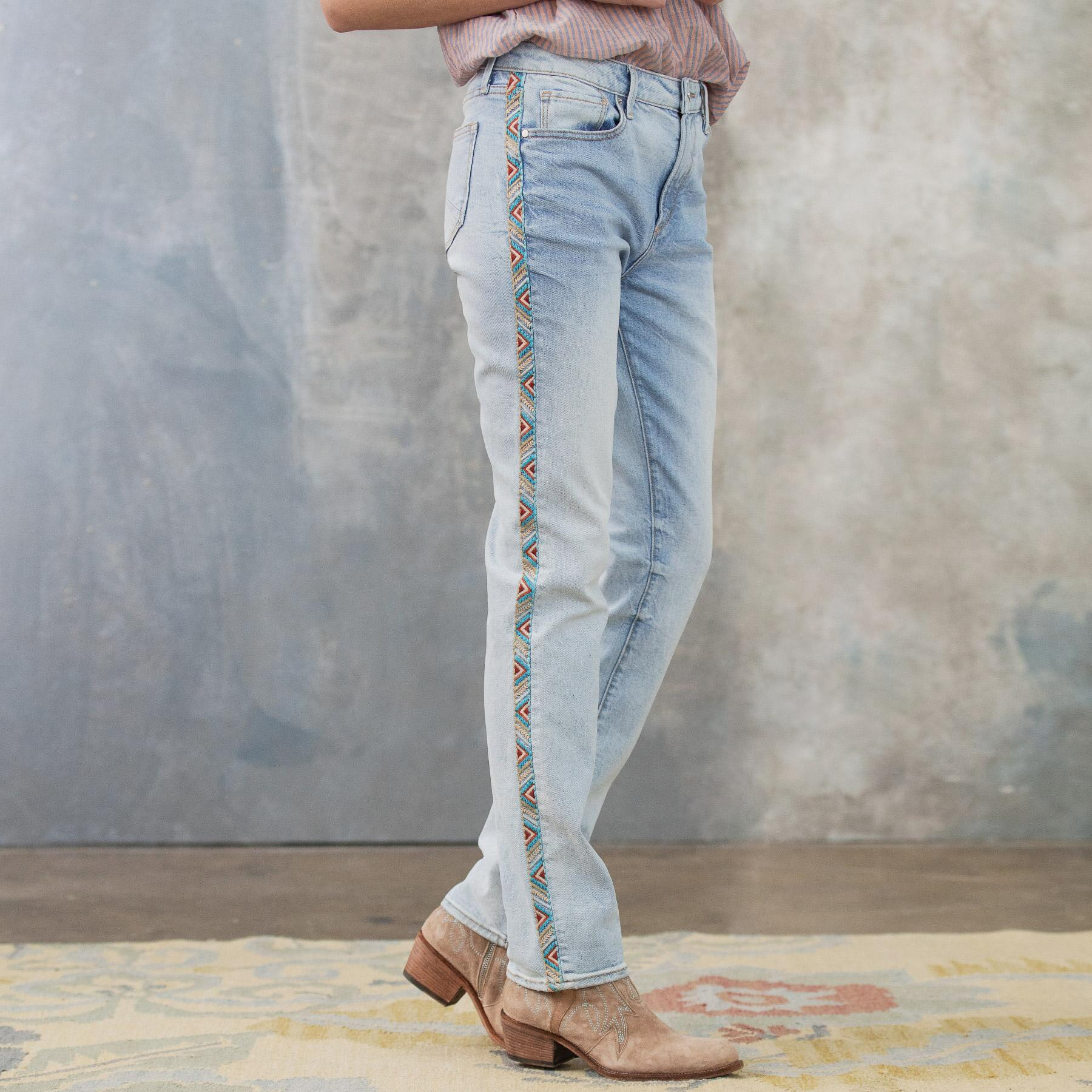 AUDREY HIGH RISE STRAIGHT JEANS: View 4